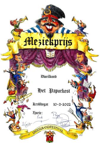 Muziekprijs 2002 Paporkest
