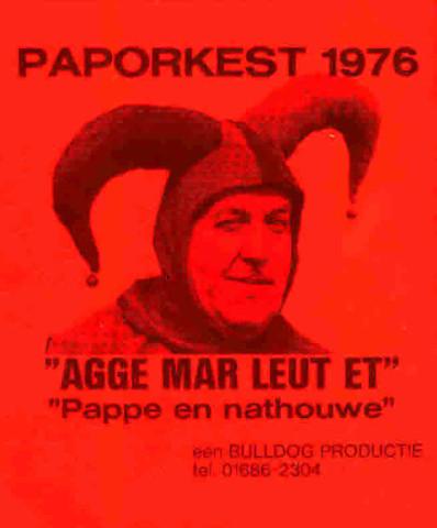 Paporkest Sticker - 1976 bij Plaatproductie